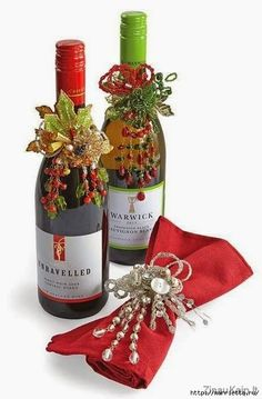 How to make anda wrap your bottles of wine and champagne this Christmas! *** Como presentar y envolver us botellas de vino y champa...