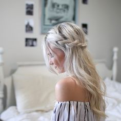 HAIRSPIRATION : EASY TWISTED HALF UP-DO CROWN - www.andrea-clare.blogspot.com