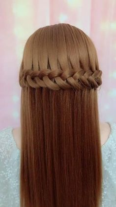 Easy Hairstyles For Long Hair, Braids For Long Hair, Headband Hairstyles, Cute Hairstyles, Wedding Hairstyles, Hairstyle Braid, Party Hairstyles, Simple Hairstyle Video, Easy Toddler Hairstyles