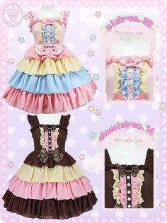 MAXICIMAM,Rainbow Color Magic Secret Magical Jumper - Such a shame it's sold out, but either way I absolutely adore the color schemes to both of them! Harajuku Fashion, Kawaii Fashion, Punk Fashion, Lolita Fashion, Asian Fashion, Fasion, Kawaii Dress, Kawaii Clothes, Estilo Lolita