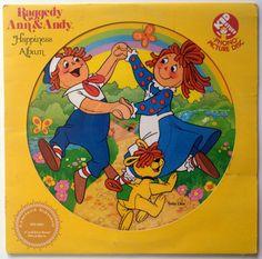 Raggedy Ann & Andy Happiness Picture Disc LP Vinyl Record Album, Kid Stuff Records - KPD 6001, 1981, Original Pressing