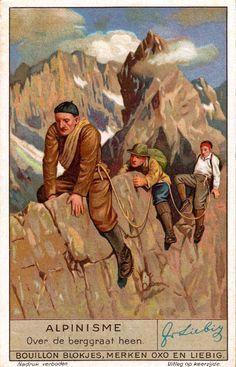 Vintage Alpine Climbing Poster