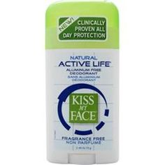 You save more with us!  3 – 2.48 oz KISS MY FACE Active Life Deodorant free shipping you buy 3 or 5 save #KissMyFace