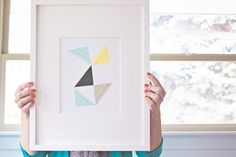 DIY washi tape wall art... maybe I'd do this for a notebook or something?