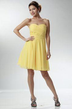 2015 Sweetheart Ruffled Bodice A Line Homecoming Dress Above Knee Length Chiffon