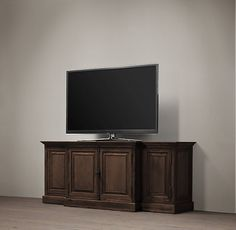 "French Casement 80"" Closed Media Console"