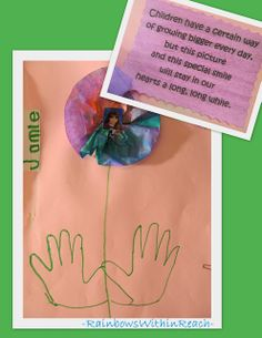 Preschool graduation keepsake, handprint rhyme for preschool