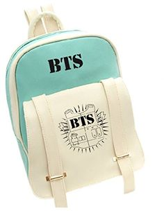 New kpop star goods BTS PU schoolbag korea backpack Bangtan Boys knapsack Travel Rucksack Mochila Escolar Mochila Kpop, Mochila Do Bts, Preppy School Bag, School Bags, Bts Backpack, Bts Bag, Bts Shirt, Bts Clothing, Cute Backpacks