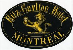 art of the luggage label | Description Ritz-Carlton Hotel, Montreal, Luggage Label.jpg