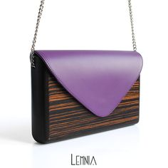 Lemnia Handcrafted Wooden Bag Ebony Lilla от AtelierLemnia