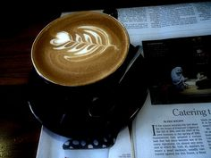 Latte at Cafe Grumpy, Brooklyn. Photo by me.