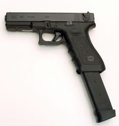 #Glock 18 with 30-round magazine • one of Lisette's favorite #weapons in my Immortal Guardians series