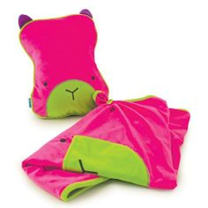 A tavel inflatable pillow and a blanket, made for children but this is so cute I want to have it myself !!! various colours available and different animals. Trunki 10503 - SnooziHedz Reiseset Betsy pink