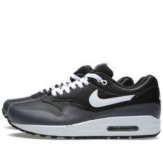 new concept c8b43 ddb62 Nike Air Max 1 Leather Black White Dark Grey Cheap Nike Roshe, Cheap