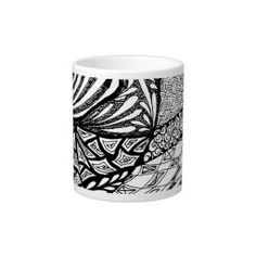 Zentangle in Pen & Ink Extra Large Mugs
