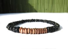 Your place to buy and sell all things handmade Simple Jewelry, Silver Beads, Stretch Bracelets, Bracelet Making, Horns, Copper, Buy And Sell, Stuff To Buy, Men