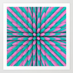 'Miami Hitlist' high quality fine art print. Fine Art Prints | Contemporary Art Prints | pattern art prints