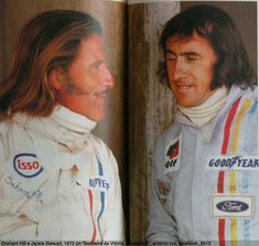 Graham Hill and Jacky Stewart