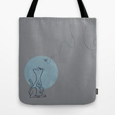 Kitten & Bee Tote Bag by Marmota Minima - $22.00