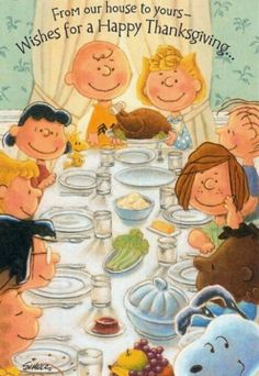 Happy Thanksgiving from Charlie Brown, Snoopy, and friends. Peanuts Thanksgiving, Charlie Brown Thanksgiving, Vintage Thanksgiving, Thanksgiving Crafts, Thanksgiving Greetings, Thanksgiving Blessings, Thanksgiving Pictures, Friends Thanksgiving, Thanksgiving Tablescapes