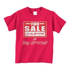 Threadrock FOR SALE Little Brother by Big Brother Toddler T-Shirt 4T Red ...