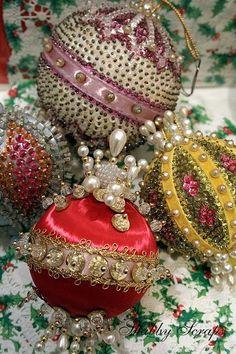 Vintage Pushpin Ornaments | Shabby Scraps | Flickr | Unique Junktique