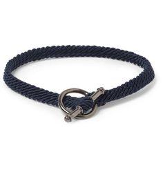 Yuvi Silver and Woven Cord Bracelet