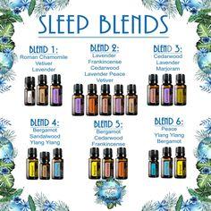 Sleep blends. *Diffuser or roller bottle blends??