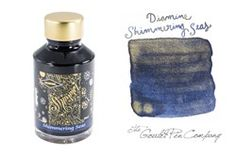 A 2ml sample of Diamine Shimmering Seas shimmering fountain pen ink, in a…