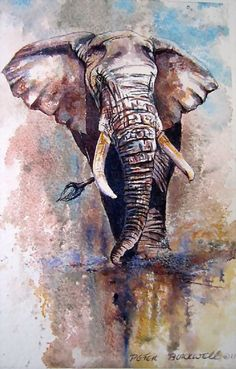 Click image to order Elephant Love, Elephant Art, Elephant Tattoos, African Elephant, African Animals, African Art, Wildlife Paintings, Wildlife Art, Animal Paintings