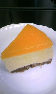 Mandarin Orange Mousse Cake♪ with Tofu Orange Recipes, Sweet Recipes, Cake Recipes, Dessert Recipes, Vegan Recipes, Orange Mousse, Mango Cake, Mousse Cake, Sweet Cakes