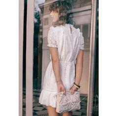 b78fc5c446 Robe manches courtes en guipure ecru Balzac Paris X La Redoute Collections