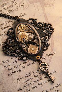 Lovely steampunk key pendant