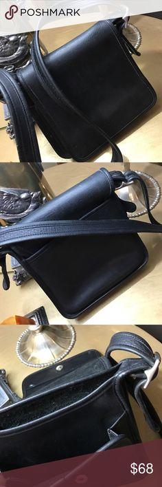 Coach Vintage Bag Legacy Studio Flap Black Leather Bag. FOP-9145 Coach Bags