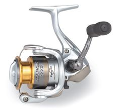 Shimano Saros F Spinning Reels    Featuring a 1000 size spool on a 750 body, the Saros F brings new meaning to light tackle, but do not mistake its small size for timidness. Utilizing the new Paladin Gear Durability Enhancement and Propulsion Spool Lip, durability, reliability and performance are nothing to worry about.