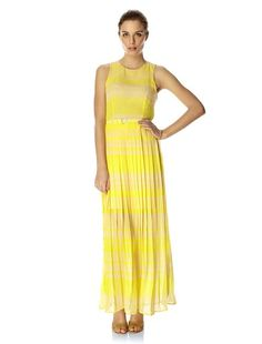 French Connection contrast block striped crepe maxi dress is a summer staple. Pair this stunning statment piece with flat sandals and a sun hat or dress it up for after hours with metallic accessories. London Rock Stripe Maxi Dress has a round neck, keyhole cutout with button fastening at back, zip fastening at side, a detachable crepe fabric belt at waistline and is partially lined at pleated ski