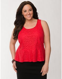 cc3b9ac955a Lane Bryant. Curvy Women OutfitsSexy OutfitsLace PeplumTrendy Plus Size ...