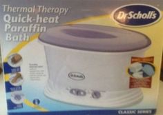THERMAL THERAPY QUICK-HEAT PARAFFIN BATH DR SCHOLL'S #DrScholls