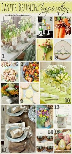 Easter Brunch Inspiration--15 super cute ideas for a fabulous Easter brunch! by christian