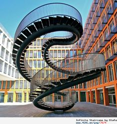 The Infinite Staircase by Olafur Eliasson. It is located at the entrance of the KPMG office building in Munich (Germany)