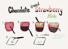 Need ideas for Valentine's day nails? Paint some chocolate covered strawberries! More here http://wp.me/p3LvmO-im