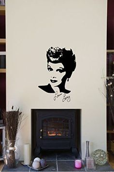 Lucy Lucille Ball Silhouette Vinyl Wall Words Decal Sticker Graphic