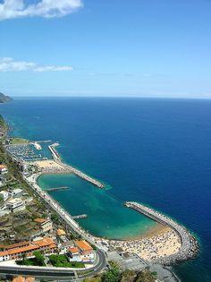 Madeira beaches in Calheta,Portugal