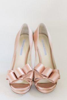 Blush pink peep toes