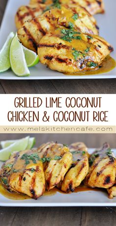 This Grilled Lime Coconut Chicken with Coconut Rice is warm and rich and crazy delicious.