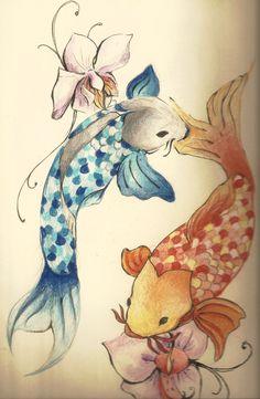 koi fish tattoos | Koi Fish Tattoo by ~loiaconos on deviantART