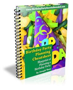 Birthday Party Planning Cheatsheet.  Blueprint of Planning a Birthday Party by Joseph Then