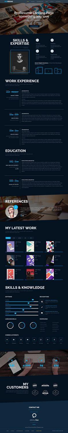 ERIC is a Responsive CV \/ #Resume \/ V-Card \/ Personal Website - personal resume websites