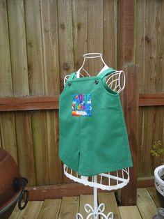 Shorts bib front dungarees Age 1 £10.00