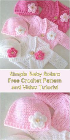 b17be4049f29d Simple Baby Bolero Cardigan - Free Pattern and Video Tutorial Crochet Baby  Cardigan Free Pattern,